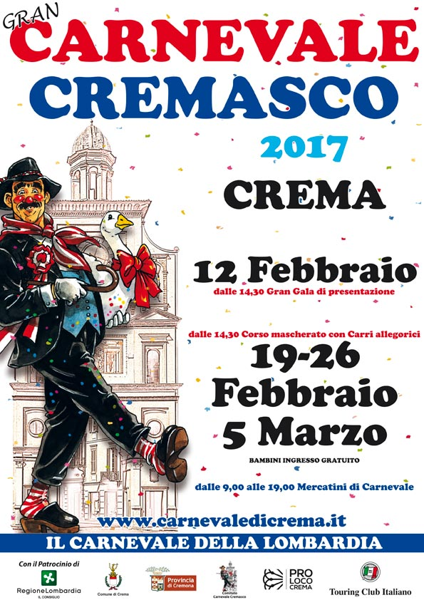 Locandina carnevale cremasco 2017