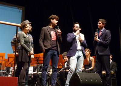 I presentatori del concerto di carnevale 2018 a Crema