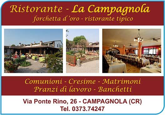 """Ristorante """"La Campagnola"""" - Campagnola (CR)"""