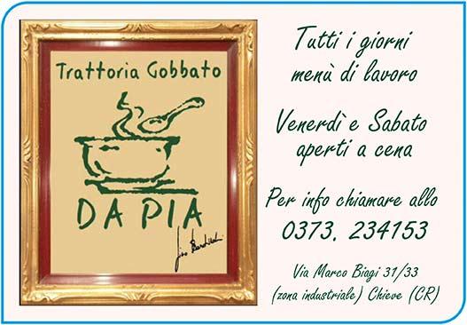 Trattoria Gobbato Da Pia - Chieve (CR)