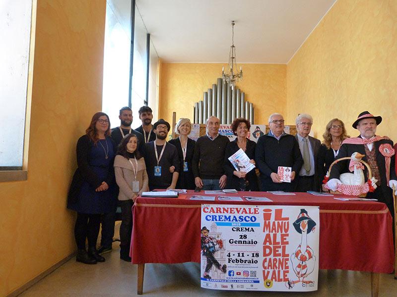 Conferenza stampa carnevale cremasco 2018