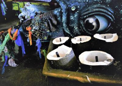 Carri del carnevale cremasco in deposito